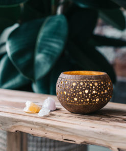 Coconut Candle Holders Full Moon