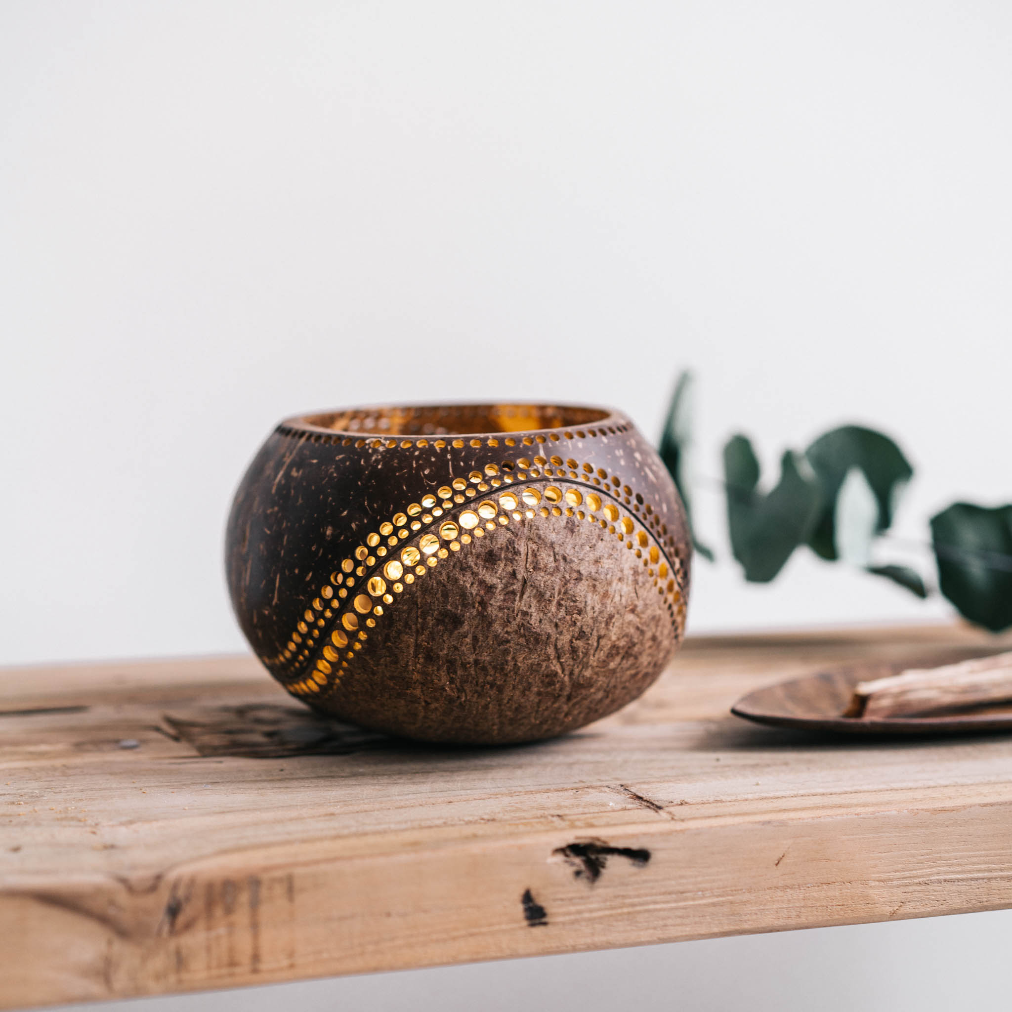 Coconut Candle Holders Wisdom